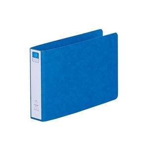 (業務用100セット) LIHITLAB ツイストリング式ファイル 【B6/2穴】 ヨコ型 F830UN-5 藍