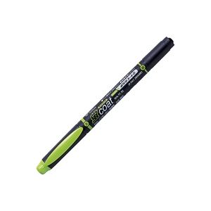 (業務用300セット) トンボ鉛筆 蛍光マーカー/蛍コート 【太字・細字/黄緑】 ツインタイプ WA-TC92