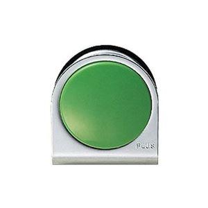 (業務用100セット) プラス カラーマグネット クリップ 小 緑