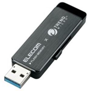 (業務用5セット) エレコム(ELECOM) セキュリティUSBメモリ黒8GB MF-TRU308GBK