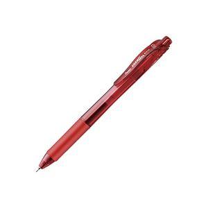 (業務用500セット) ぺんてる ボールペン エナージェル・エックス 【0.5mm/赤】 ゲルインク ノック式 BLN105-B