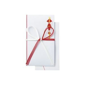 (業務用50セット) ジョインテックス 祝金封 赤白5本 10枚入 N038J
