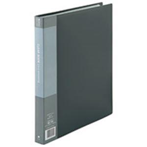 (業務用5セット) ジョインテックス クリアファイル/ポケットファイル 【A4/タテ型 10冊入り】 40ポケット 灰 D048J-10GY