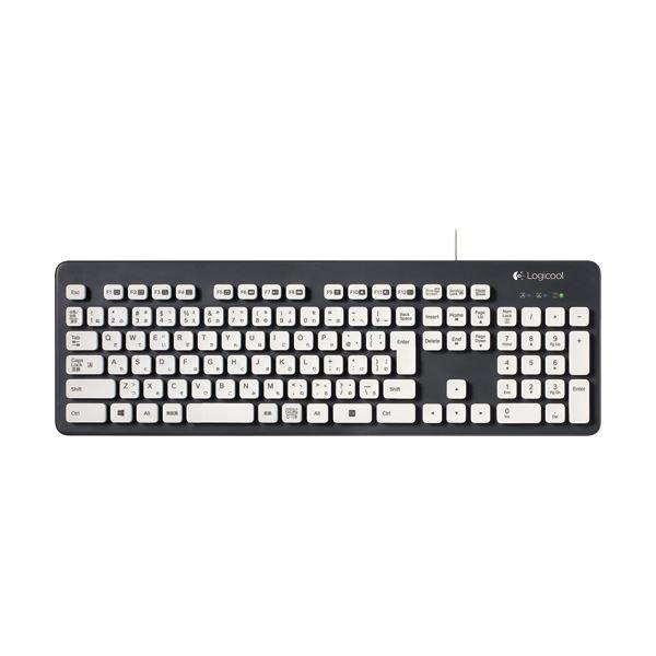 (まとめ) ロジクール Washable Keyboard USB接続 グレー K310 1台 【×2セット】