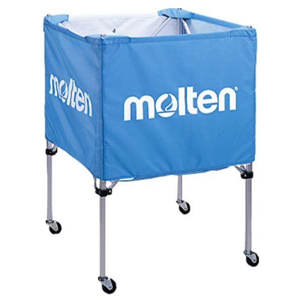 【モルテン Molten】 折りたたみ式 ボールカゴ 【中・背低 サックス】 幅63×奥行63cm キャスター ケース付き