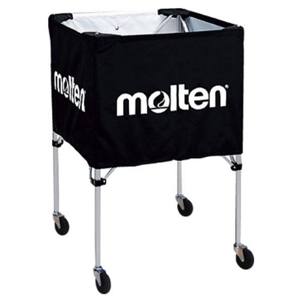 【モルテン Molten】 折りたたみ式 ボールカゴ 【屋外用 ブラック】 幅63×奥行63cm キャスター ケース付き
