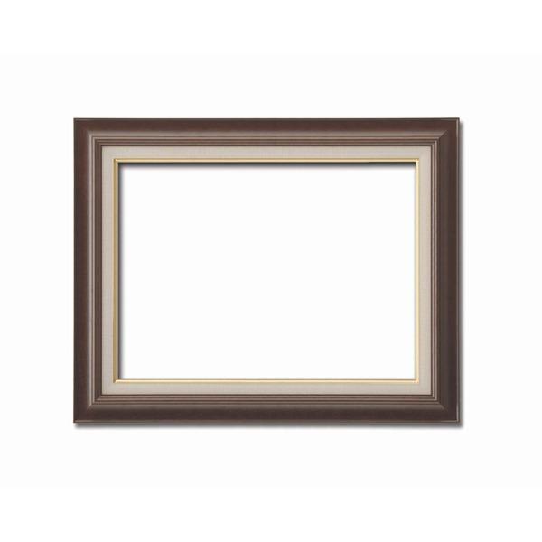 【油額】油絵額・キャンバス額・木製油絵額・茶色油絵額 ■F12号(606×500mm)「ブラウン」