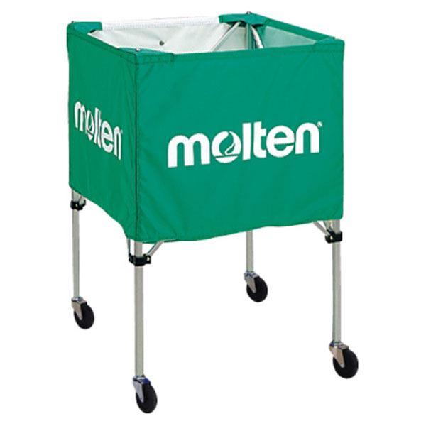【モルテン Molten】 折りたたみ式 ボールカゴ 【屋外用 グリーン】 幅63×奥行63cm キャスター ケース付き