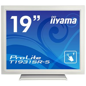 iiyama 19型タッチパネル液晶ディスプレイ ProLite T1931SR-5(抵抗膜方式/USB通信/シングルタッチ/防塵防滴/D-SUB/HDMI/DP) ホワイト