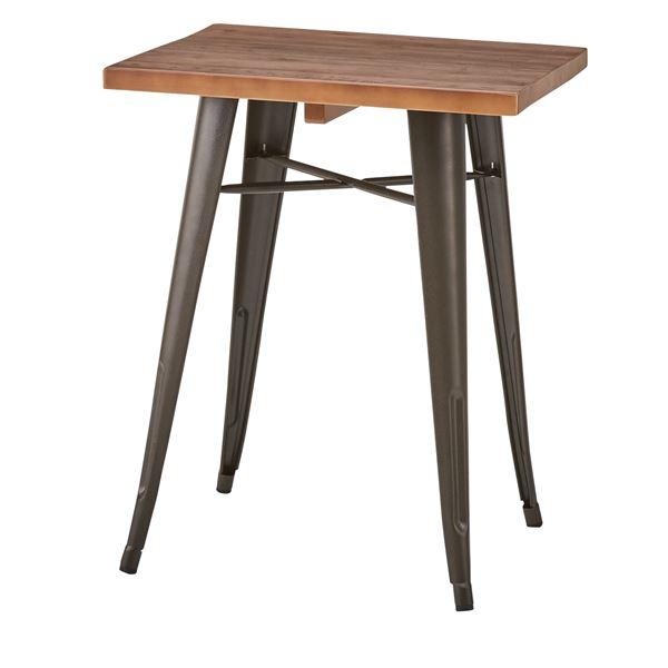 木製ダイニングテーブル/リビングテーブル 【正方形 幅60cm×60cm】 天然木×スチール WPS-347
