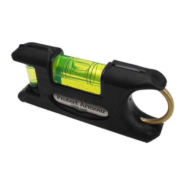 (業務用10個セット) KOD プロテクトアーマー水平器/レベル 【ブラック】 一体型成型 PAS-BK