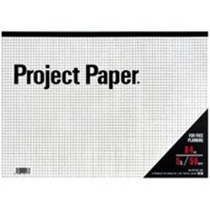 (業務用100セット) オキナ プロジェクトペーパー PPB45S B4 5mm方眼