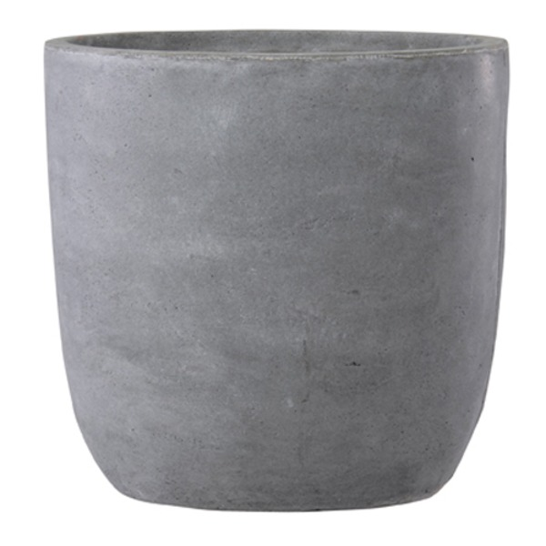 ファイバークレイ製 軽量 大型植木鉢 バスク ラウンド 51cm グレー