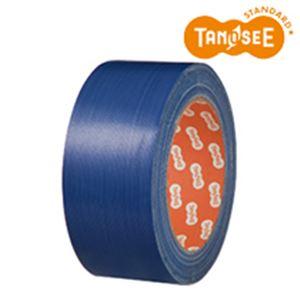 【訳あり・在庫処分】(まとめ)布テープ 50mm×25m 青 30巻
