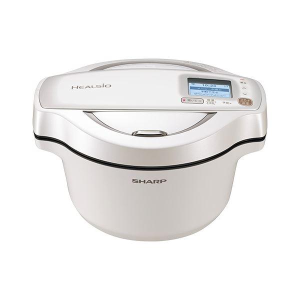 シャープ 水なし自動調理鍋 ヘルシオホットクック 無線LAN対応 1.6L ホワイト系 KN-HW16E-W