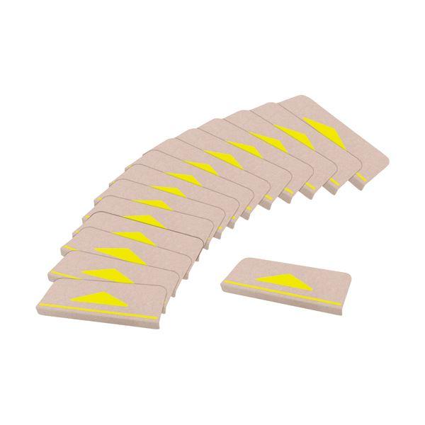 サンコー 折り曲げ付階段マット三角マーク付 KD-80 1パック(15枚)