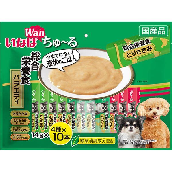 (まとめ)いなば ちゅ~る 総合栄養食バラエティ 14g×40本 (ペット用品・犬フード)【×8セット】
