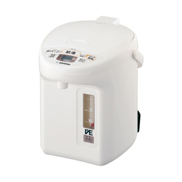 象印 マイコン沸とうVE電気まほうびん優湯生 2.2L ホワイト CV-TZ22-WA 1台