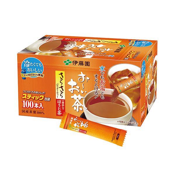 (まとめ)伊藤園 おーいお茶 さらさらほうじ茶スティック 0.8g 1箱(100本)【×5セット】
