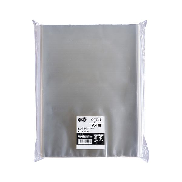 TANOSEE OPP袋 フラット A4225×310mm 1セット(5000枚:500枚×10パック)