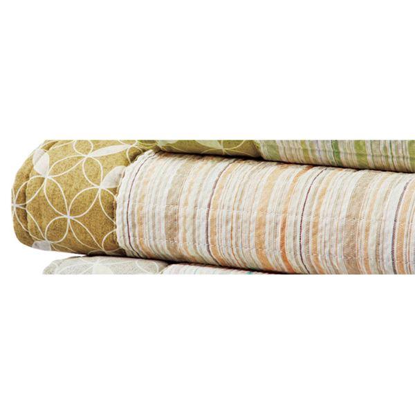 しじら織り ラグマット/絨毯 【約220cm×330cm ベージュ】 長方形 綿100% 洗える 防滑 シボ加工 〔リビング〕