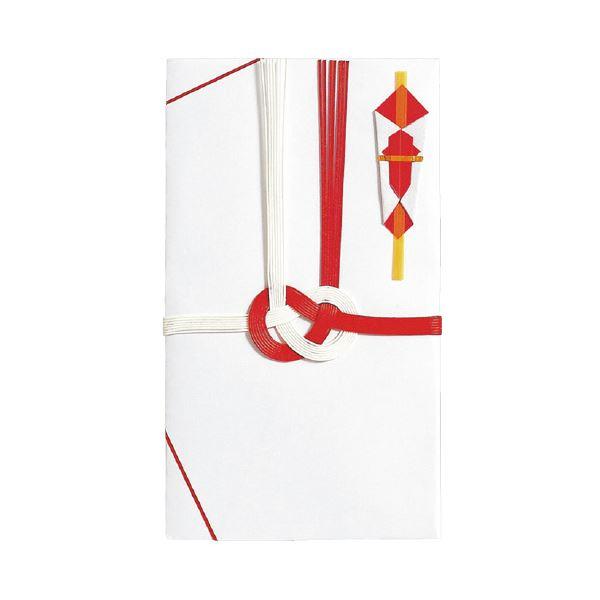 (まとめ)マルアイ 祝金封 赤白7本斜折 5枚パック(×50セット)