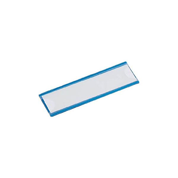 (まとめ) TRUSCO マグネット式見出しプレート幅80×長さ25mm 青 MGP-25X80-B 1パック(10枚) 【×5セット】