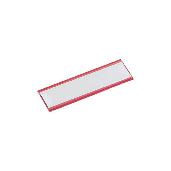 (まとめ) TRUSCO マグネット式見出しプレート幅80×長さ25mm 赤 MGP-25X80-R 1パック(10枚) 【×5セット】