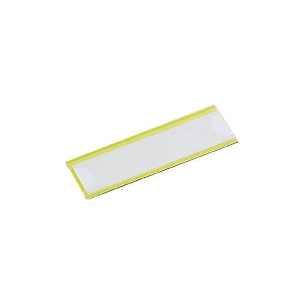 (まとめ) TRUSCO マグネット式見出しプレート幅80×長さ25mm 黄 MGP-25X80-Y 1パック(10枚) 【×5セット】