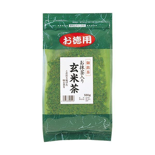 (まとめ)菱和園 抹茶入玄米茶 500g/袋 1セット(3袋)【×5セット】