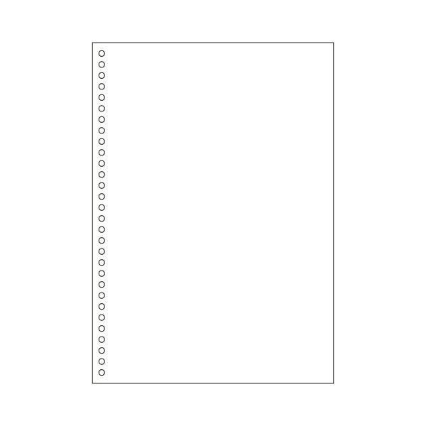 ヒサゴマルチプリンタ帳票(FSC森林認証紙) A4 白紙 30穴 FSC2049Z 1箱(1200枚)