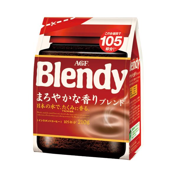 (まとめ) 味の素AGF ブレンディまろやかな香りブレンド袋210g【×10セット】