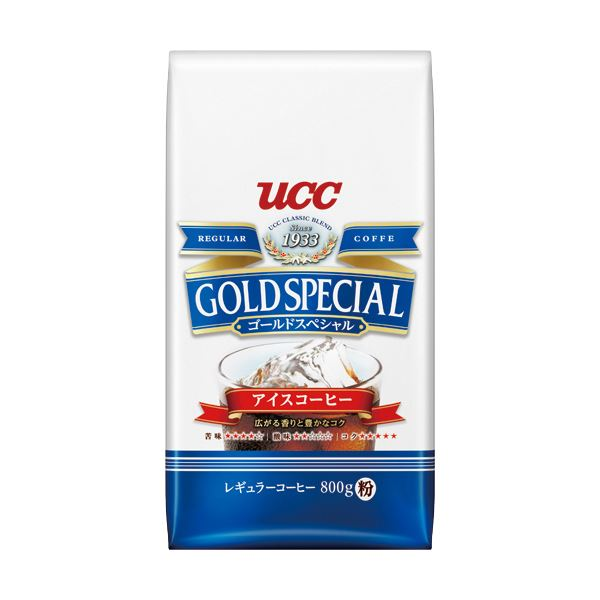 (まとめ)UCC ゴールドスペシャルアイスコーヒー 800g(粉)1袋【×5セット】