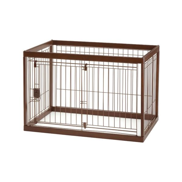 木製ペットサークル 90-60 ダークブラウン【ペット用品】