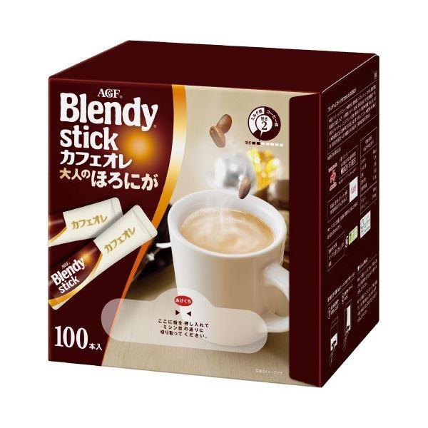 (まとめ)味の素AGF Blendyカフェオレ 大人のほろにが 100本(×5セット)