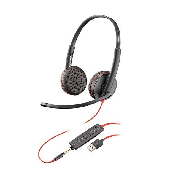 プラントロニクス 有線UCヘッドセットBlackwire C3225 USB-A 209747-101 1個
