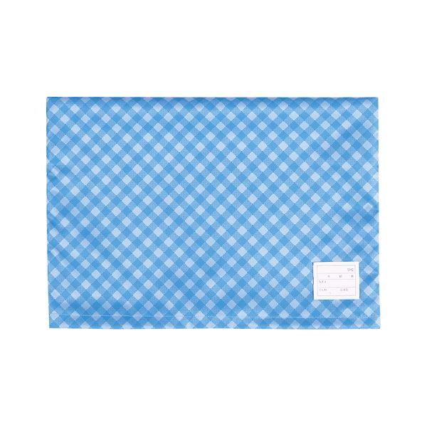 (まとめ) ナカバヤシ 防災ずきんカバー チェックタイプ ブルー【×20セット】