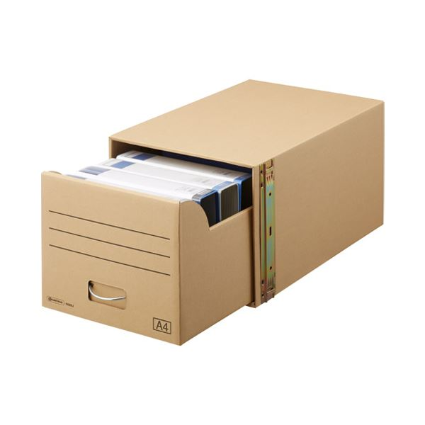 (まとめ) スマートバリュー 書類保存キャビネット A4判用*1個 D089J【×5セット】