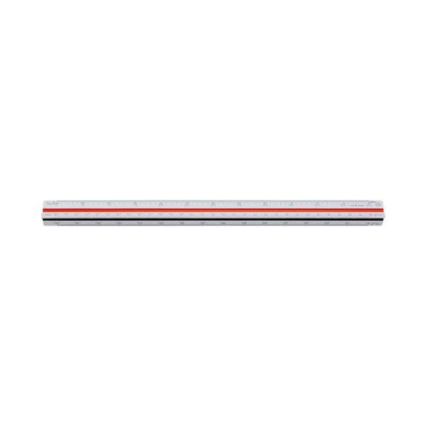 (まとめ)内田洋行 三角スケールプラスチック製 30cm 014-0142【×5セット】