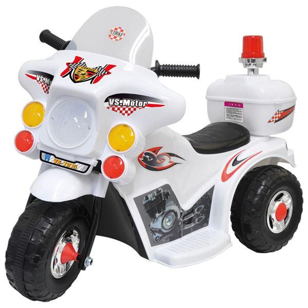 電動 ポリスバイク/おもちゃ 【白バイ 幅35cm】 充電時間約8~12時間 連続使用時間約1.5~2時間 6か月間保証書付き