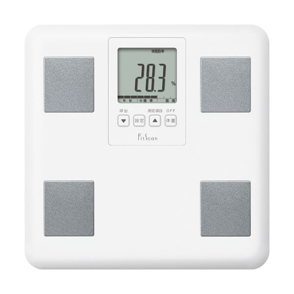 シンプル機能で使いやすい体組成計 まとめ 贈与 タニタ 日本産 体組成計 FitScan ホワイト ×3セット 1台 FS-200-WH