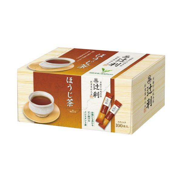 (まとめ)片岡物産 辻利 インスタントほうじ茶 0.8g×100本(×5セット)