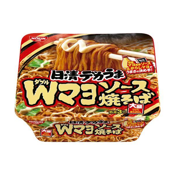 (まとめ)日清食品 日清デカうまWマヨソース焼そば 1ケース(12食)【×4セット】