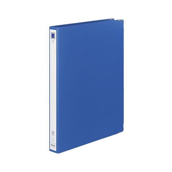 コクヨ リングファイル 色厚板紙A4タテ 30穴 背幅36mm 青 フ-4680B 1セット(20冊)