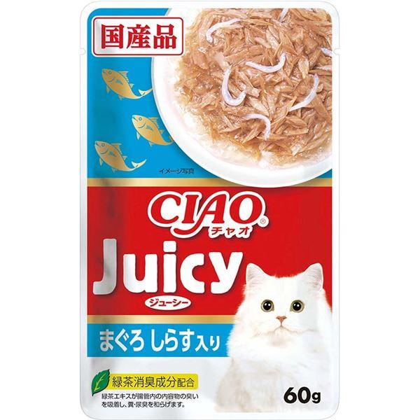 (まとめ)CIAO Juicy まぐろ しらす入り60g (ペット用品・猫フード)【×96セット】