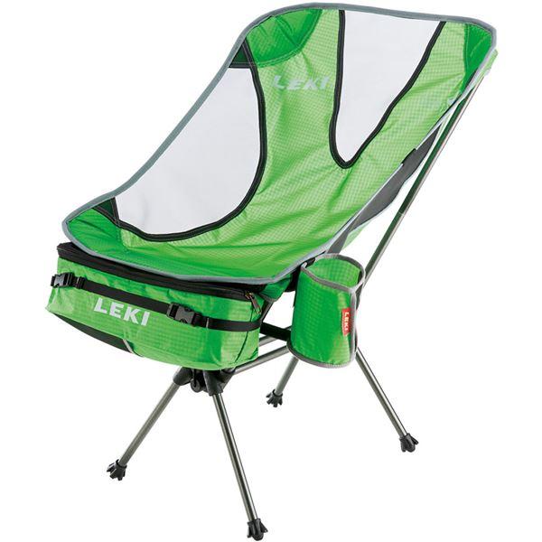 折りたたみ椅子 【グリーン】 69×44×49cm 耐荷重1030g 『LEKI レキ チェア・シリーズ サブ ワン ライトウエイト』 〔屋外〕