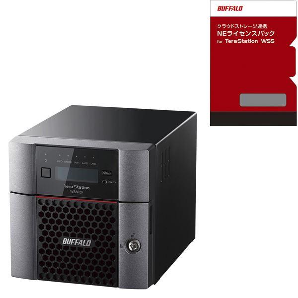 バッファロー TeraStation WSS デスクトップ2ベイNAS 2TB WorkgroupNEライセンスパック 1年1TBセット WS5220DN02W9-1Y1