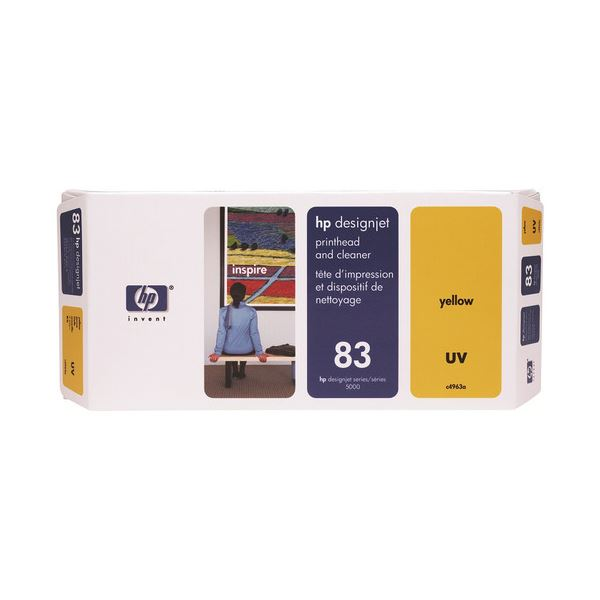 HP HP83プリントヘッド/クリーナーUV イエロー C4963A 1個
