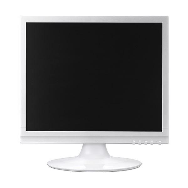 グリーンハウス17型カラーLED液晶ディスプレイ VGA/DVI ホワイト GH-LCS17C-WH 1台