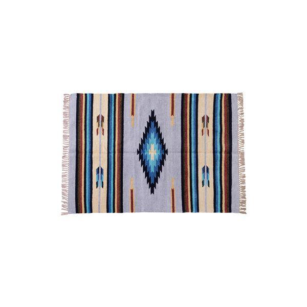キリム ラグマット/絨毯 【130×190cm TTR-106D】 長方形 綿 インド製 〔リビング ダイニング フロア 居間〕